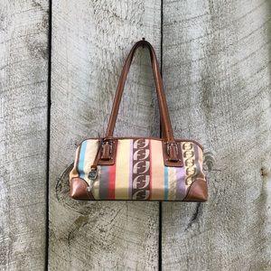 Fossil | monogram striped shoulder bag